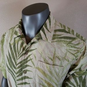 Tommy Bahama Hawaiian Shirt Silk Floral